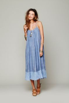 free people gauzy striped maxi dress