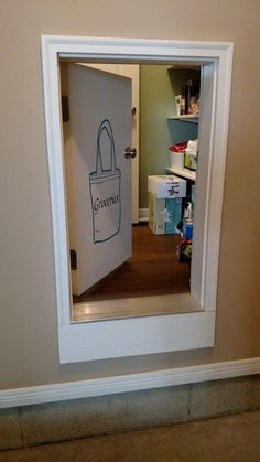 kitchen pantry design A pass-through give easy access to the pantry from the garage. Home Renovation, Home Remodeling, Interior Design Kitchen, Kitchen Pantry Design, Home Organization, My Dream Home, Home Projects, Future House, Home Kitchens