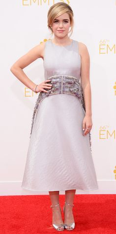 Emmy Awards 2014 Red Carpet Photos - KIERNAN SHIPKA in a light purple dress #InStyle