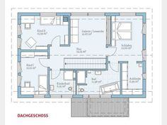 Grundriss DG Variant 25-192 #Einfamilienhaus von Hanse Haus GmbH & Co. KG. Im Dachgeschoss findet sich als weitere Besonderheit eine Galerie/Leseecke, die bei Bedarf sogar als separater Raum umfunktioniert werden kann. #floorplan
