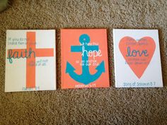 cross, anchor, heart i can make this better   Except: let all you do, be done in love