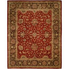 K2 Floor Style - Empire Rustbrn Hand-Tufted Wool Area Rug, Red