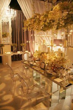 Salon de bodas estilo Glam