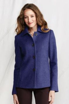 Women's Regular Boiled Wool Jacket