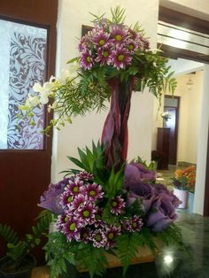 Funeral Flower Arrangements, Church Flower Arrangements, Beautiful Flower Arrangements, Elegant Flowers, Amazing Flowers, Floral Arrangements, Beautiful Flowers, Altar Flowers, Church Flowers