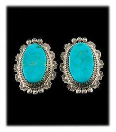 Blue Manassa Turquoise Post Earrings