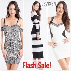 Don't Miss Out!  Buy these dresses as low as $13.99! Will go back to original price after this week!   https://levixen.com/FLASH-SALE/  #womensclothing #fashion #trendy #style #ootd #lookbook #model #sexydress #maxidress #partydress #love #glam #sexy #pretty #blackwhite #dresses #summer #mondaze