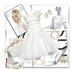 """""""White with a Touch of Gold"""" by katyusha-kis ❤ liked on Polyvore"""
