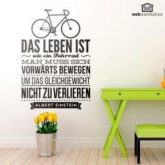 Wandtattoos Das leben ist wie ein fahrrad...