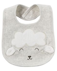 Baby Boy Lamb Teething Bib | Carters.com