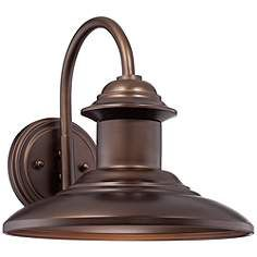 """Dunshult 11"""" High Oil-Rubbed Bronze Outdoor Wall Light"""