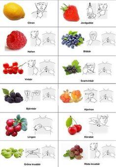Tecken som stöd: Frukt