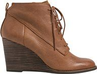 LUCKY YOANNA LACE UP WEDGE BOOTIE   Swell.com