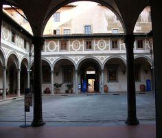 Claustre dels Homes de l'Hospital dels Innocents de Florència - Category:Spedale degli Innocenti - Cloister of men - Wikimedia Commons