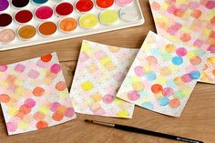 Watercolored birthday cards | Sideoats and Scribbles