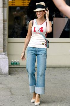 All of the Trends That Sex and the City Predicted and Perfected - Cuffed Denim