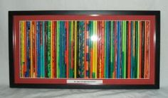 "Class Project-individual sticks decorated by class-framed together- ""Stick Together"""
