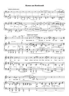 Alfons Diepenbrock, Ode aan Rembrandt, 1906 Composers, Rembrandt, The Twenties, Dutch, Van, Random, Music, Musica, Musik