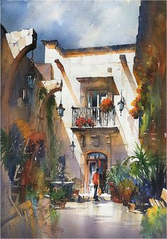 The Light of Mexico - San MIguel. Thomas W Schaller - Watercolor.