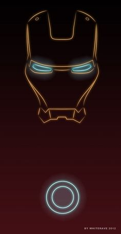 Illustrator Creates 'Neon Light' Superheroes - Iron Man: Love this! Simple, yet awesome. Ok, I'm a big marvel character fan, but this is pretty cool *heart*