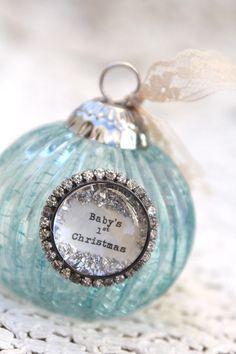 Baby Boy First Christmas Ornament - Beth Quinn Designs