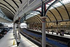 Newcastle Central Station, Newcastle. It has a 600 feet long street façade, and was designed by John Dobson.