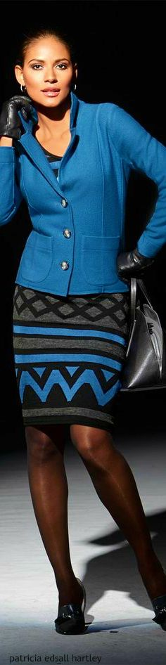 Madeleine blue jacket  women fashion outfit clothing style apparel @roressclothes closet ideas