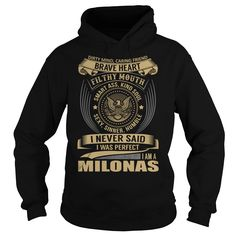 [Best Tshirt name tags] MILONAS Last Name Surname T-Shirt Coupon 15% Hoodies, Funny Tee Shirts