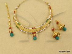 NS-804-189 || Sanskrit Style Squre Antique Necklaces