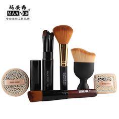 10PCS Makeup Brushes Foundation Brush Blush Brush Eye Brush Puff Makeup Tool Kit MAG5164
