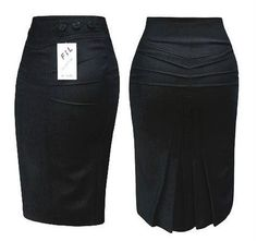 """ru / Lenchik-O - The album """"SKIRTS (models, sketches)"""" Grey Fashion, Fashion Wear, Work Fashion, Fashion Outfits, Classy Dress, Classy Outfits, Retro Mode, Pencil Skirt Outfits, African Fashion Dresses"""