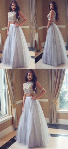 New Arrival Two Pieces Beading Pretty young Fashion Gorgeous High Quality Prom Dresses, PD0374
