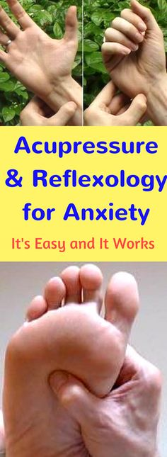 Have you tried acupressure and reflexology for anxiety? These step by step instructions and color photos show where and how to massage specific points on your arms, feet and ears to reduce anxiety, stress and tension.