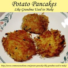 Homemade Potato Pancakes Like Grandma Used to Make @ Common Sense Homesteading