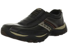 Skechers Relaxed Fit Black Artifact Excavate Slip-On Sneaker Loafers Mens NEW ! #SKECHERS #LoafersSlipOns