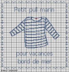vêtement - garment - pull - point de croix-cross stitch - broderie-embroidery- Blog : http://broderiemimie44.canalblog.com/
