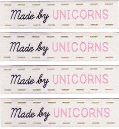 Made by Unicorns Woven Labels