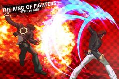 Kyo vs Iori Video Game Posters, Movie Posters, Snk Games, King Of Fighters, Street Fighter, Cool Art, Awesome Art, Fictional Characters, Wallpapers
