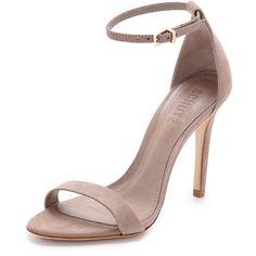 Schutz Cadey Lee Sandals ($170) ❤ liked on Polyvore featuring shoes, sandals, neutral, schutz shoes, schutz sandals, schutz, leather sole shoes and schutz footwear