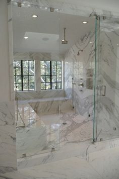 please tell me our shower is this big, or close, hope so!!!!  love the L shaped bench!