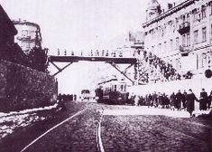 Because the Nazis wanted to keep Chlodna Street (an important thoroughfare) open, the ghetto was divided into two; originally joined by a street-crossing, the two parts of the ghetto were later connected by a wooden bridge.