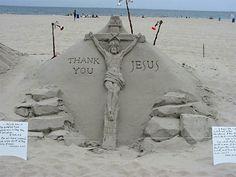Sand Sculptor by Randy Hofman in Ocean City, Maryland