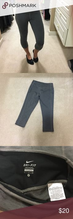 Nike capri tights Nike, size small, gray capri length tights. In perfect, used condition. Ready to ship! Nike Pants Capris