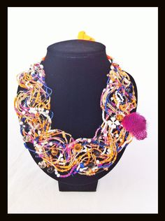 hand made by Ximena Jaramillo Crochet Necklace, Handmade, Jewelry, Fashion, Accessories, Moda, Hand Made, Jewlery, Jewerly