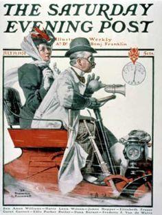 """Speeding Along"" Saturday Evening Post - 1924-07-19 (Norman Rockwell)"