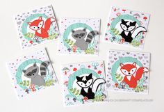 Mini-Kärtchen mit dem zauberhaften Stempelset Foxy Friends - Stampin' Up! http://www.ziemlich-zauberhaft.de/2016/09/25/waldtiere/