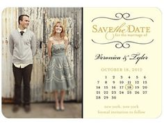 Vintage inspired save the date.
