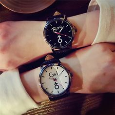 2020 Lover's Wristwatches Simple Stylish Couple Watch Luxury Girl and Boy Leather Quartz Clock Lovers Watch For Men Women - Bicana Watches & Glasses Couple Watch, Cheap Watches, Simple Watches, Women's Watches, Luxury Girl, Stylish Couple, Vintage Watches For Men, Leather Watch Bands, Fashion Watches