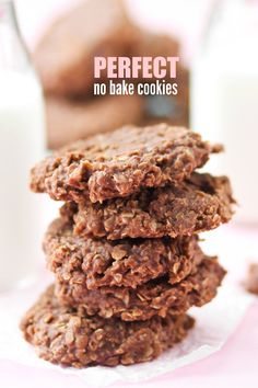 The perfect No Bake Cookie Recipe!! If you've ever struggled with getting these to set up correctly, this is the recipe for you!! Perfect, no fail cookies every time.