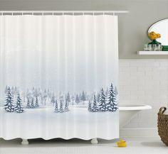 Romero Winter Scene Shower Curtain